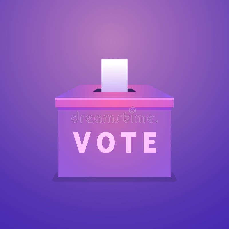 Plantilla cuadrada del diseño de sistema de la bandera de la venta del verano Voto de la urna Concepto del día de elección stock de ilustración