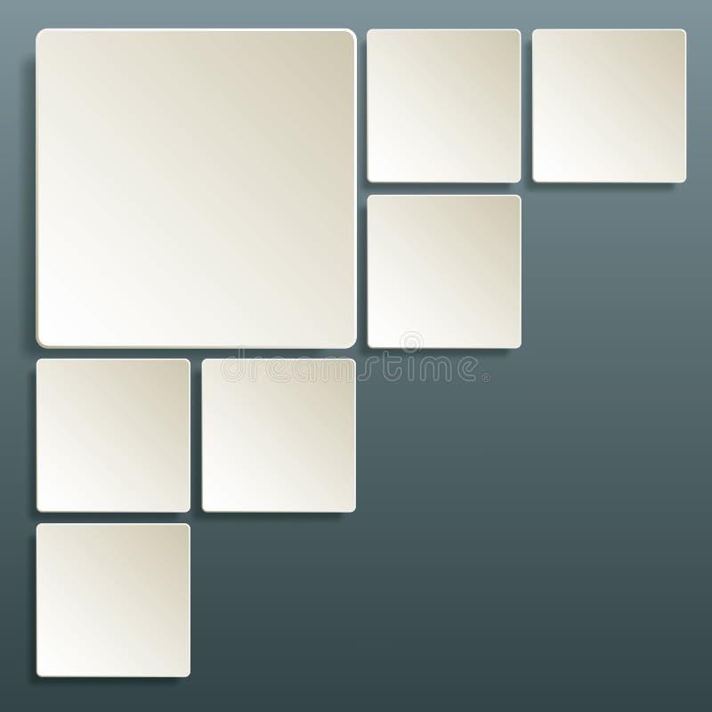 Plantilla cuadrada del fondo del extracto de la disposición de la tabla stock de ilustración