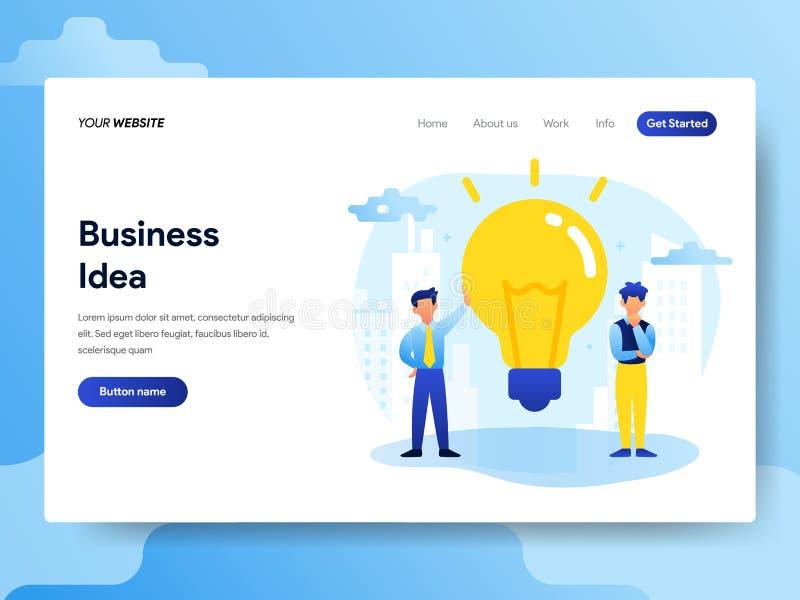 Plantilla de aterrizaje de la página del concepto de la idea del negocio r ilustración del vector