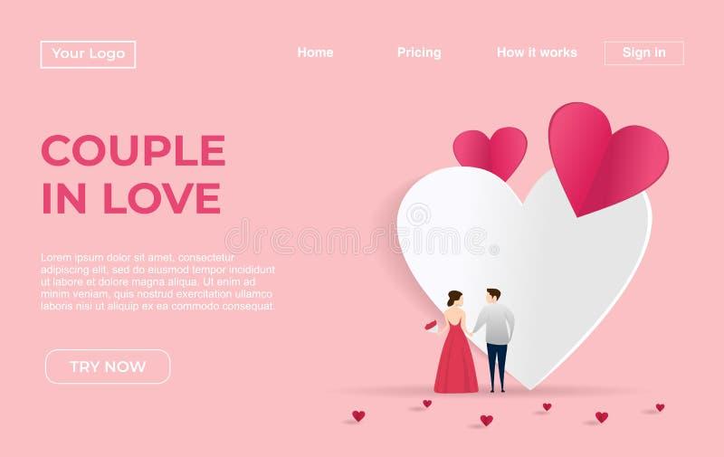 Plantilla de aterrizaje de la página de pares con fechar concepto del ejemplo de los Apps Concepto de diseño plano moderno del di libre illustration