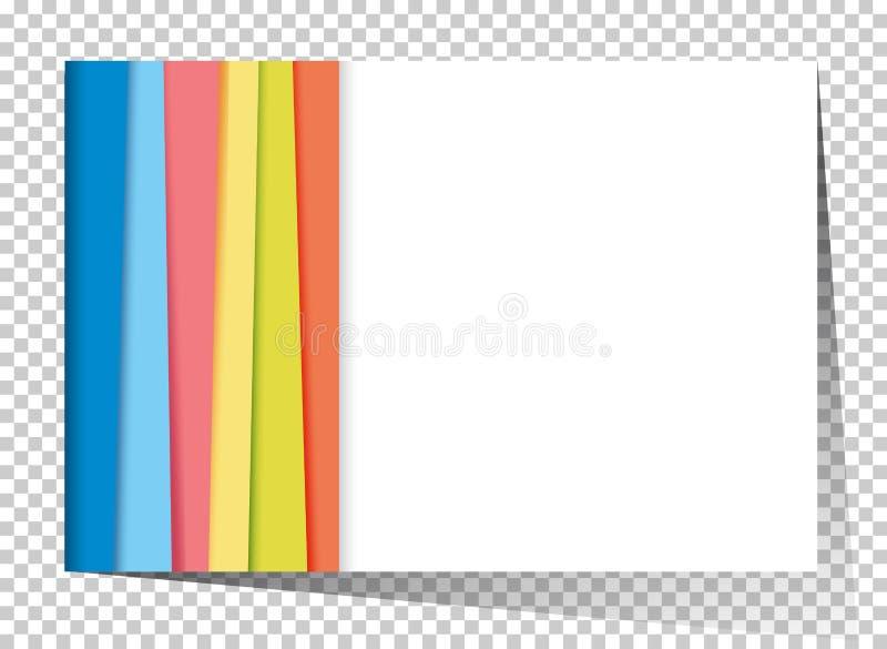 Plantilla de Businesscard con el arco iris en fondo ilustración del vector