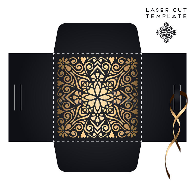 Plantilla de corte del laser de la invitación de boda del vector libre illustration