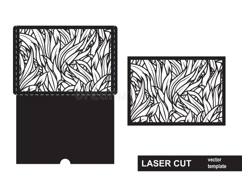 Plantilla de corte del laser de la hierba imágenes de archivo libres de regalías