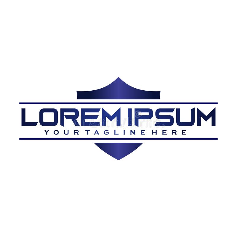 Plantilla de diseño de logotipo de seguridad digital, concepto de logotipo de sensibilización sobre el ciberespacio libre illustration
