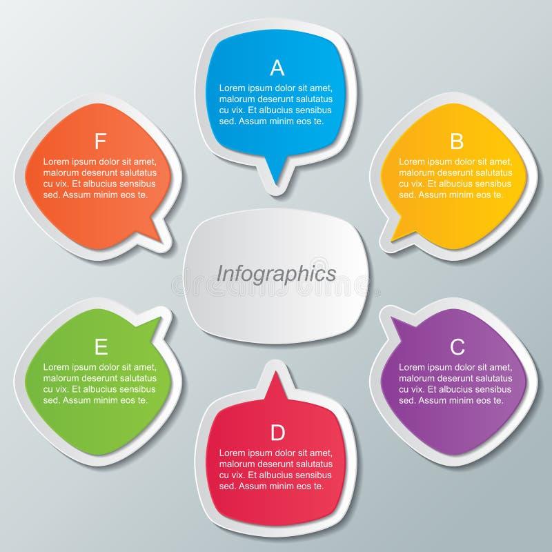 Plantilla de Infographic ilustración del vector