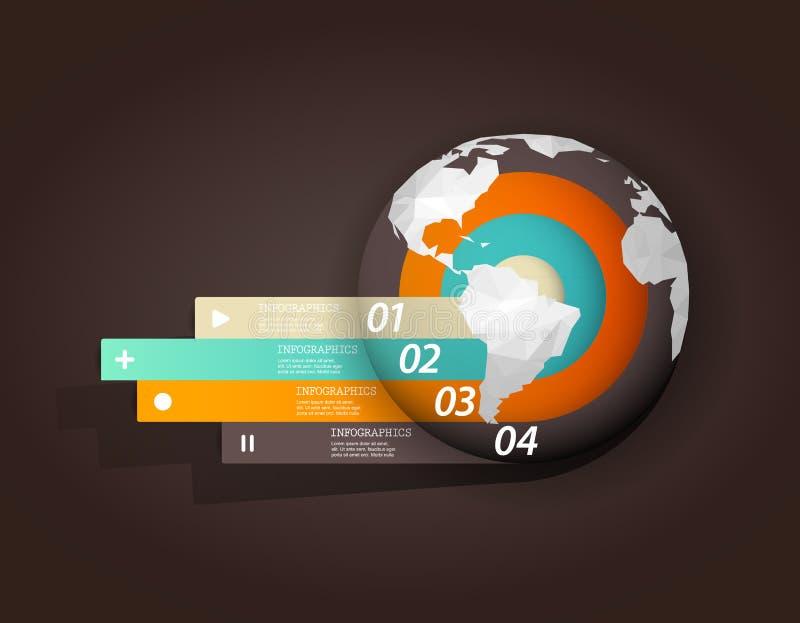 Plantilla de Infographic con cuatro rayas libre illustration