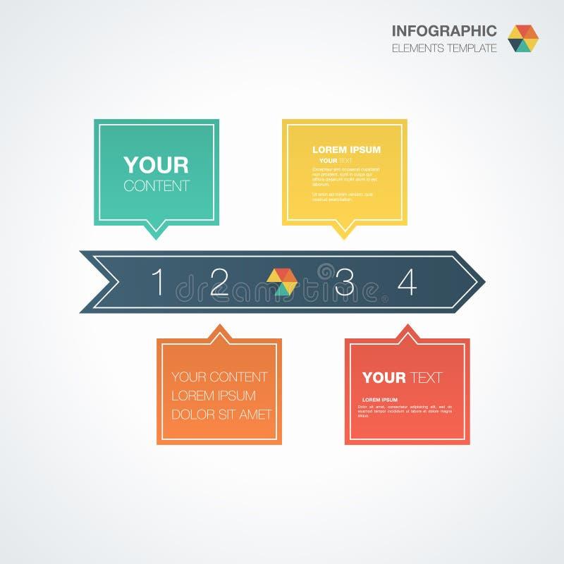 Plantilla de Infographic con el lugar para su contenido ilustración del vector