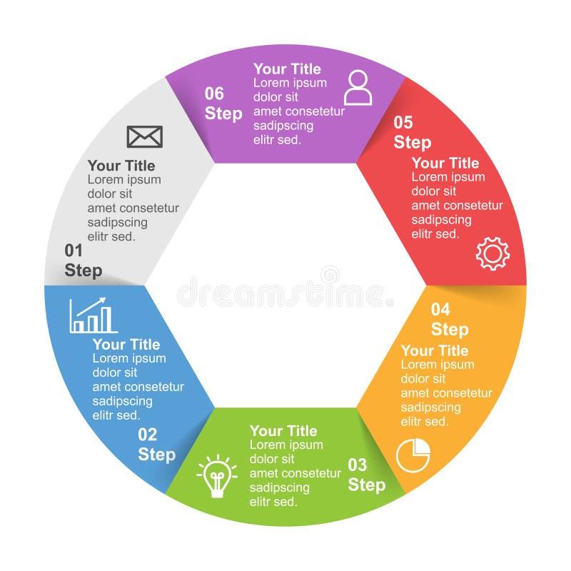 Plantilla de Infographic con la opción o paso para la presentación del negocio libre illustration