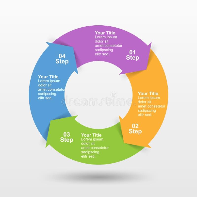 Plantilla de Infographic con la opción o paso para la presentación del negocio stock de ilustración
