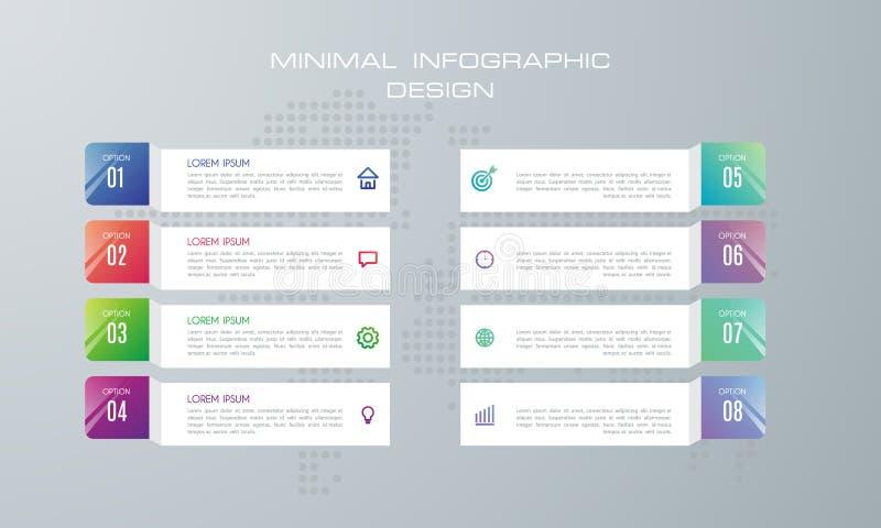 Plantilla de Infographic con 8 opciones libre illustration