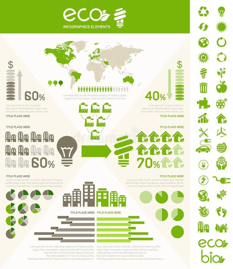 Plantilla de Infographic de la ecología. ilustración del vector