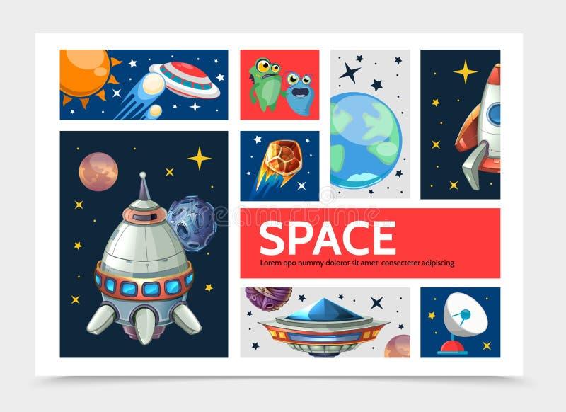 Plantilla de Infographic del espacio de la historieta libre illustration