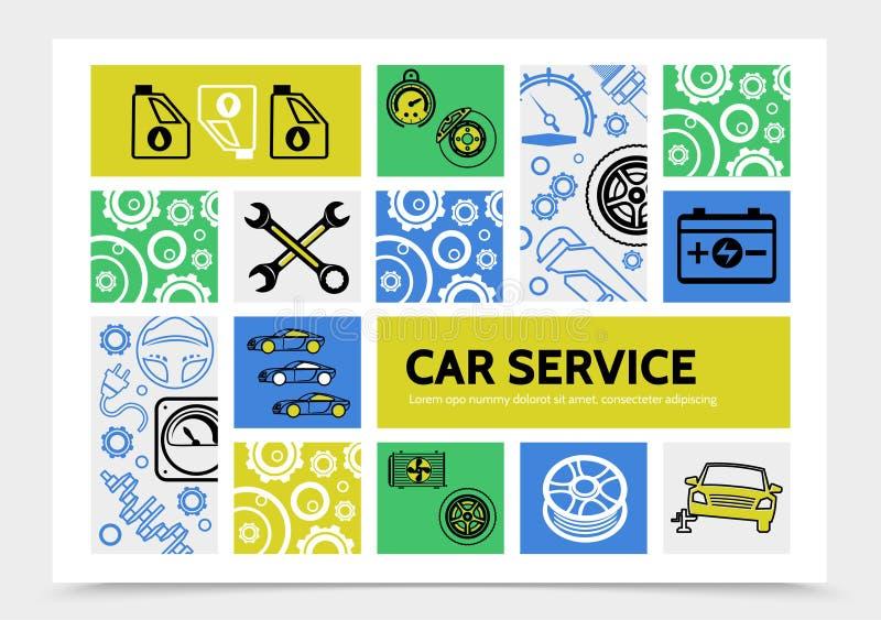 Plantilla de Infographic del servicio del coche libre illustration
