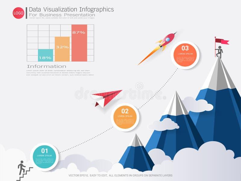 Plantilla de Infographic de la pirámide del negocio stock de ilustración