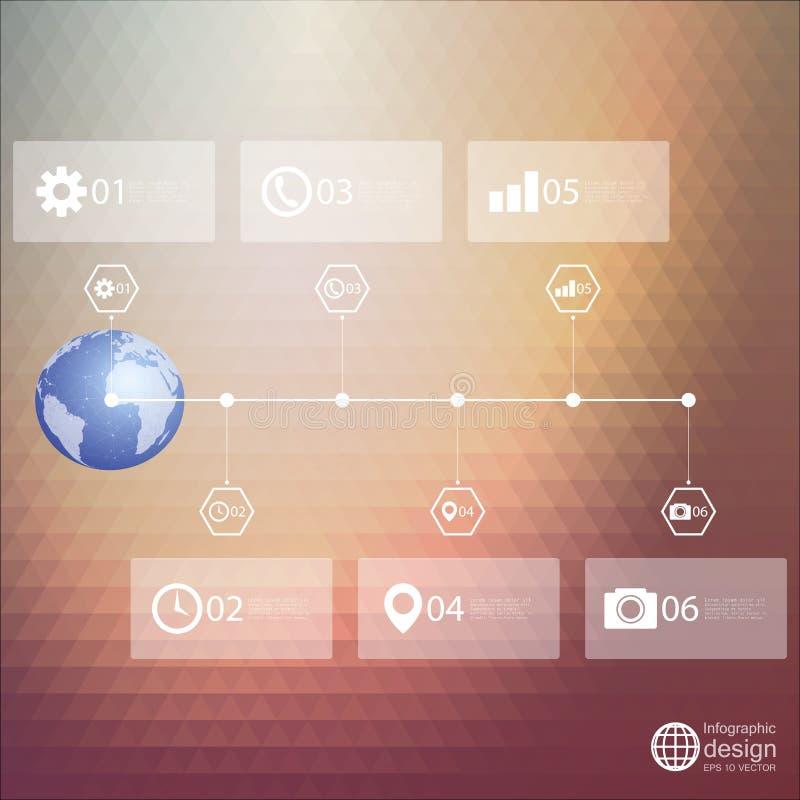 Plantilla de Infographic para el diseño de negocio, triángulo libre illustration