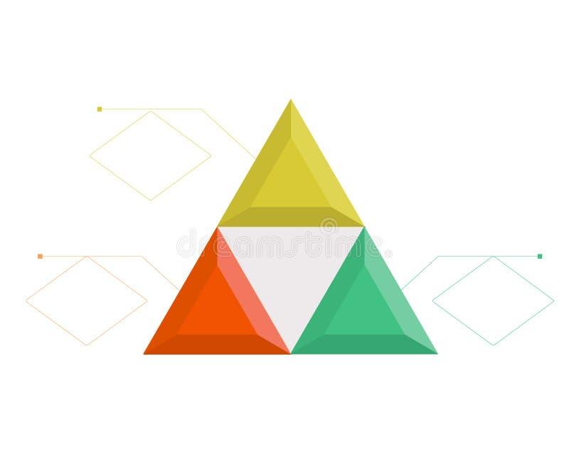Plantilla de Infographic para el negocio, educación, diseño web, banderas, folletos, aviadores, diagrama, flujo de trabajo, crono ilustración del vector