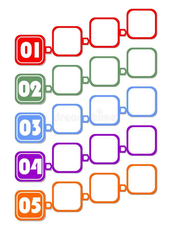 Plantilla De Infographic Para La Presentación De Cinco Opciones O ...