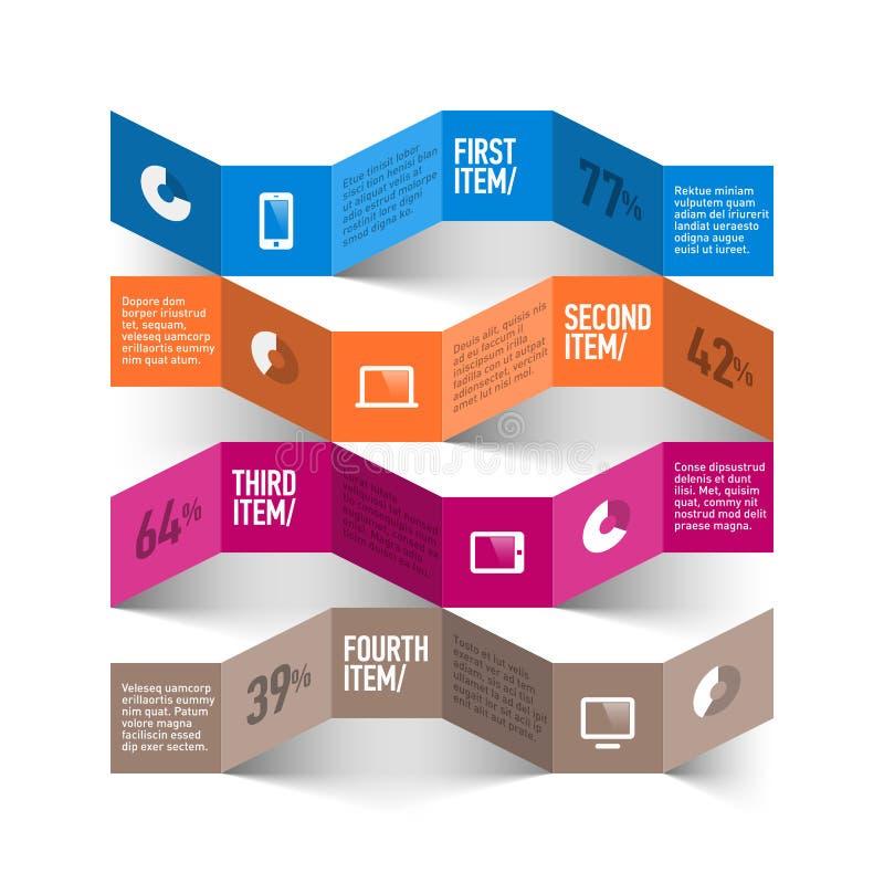 Plantilla de Infographics ilustración del vector