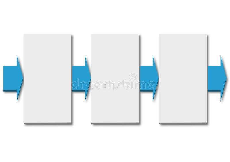 Plantilla de Infographics - cronolog?a de tres pasos con las flechas libre illustration