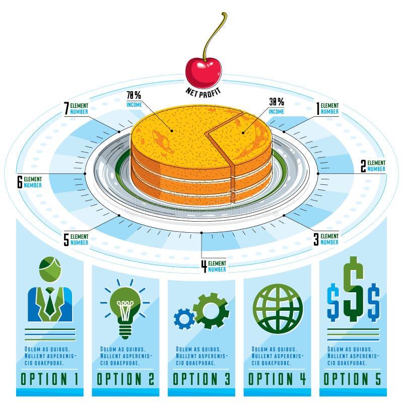 Plantilla de Infographics, pedazo de idea de la empanada, ejemplo del vector libre illustration