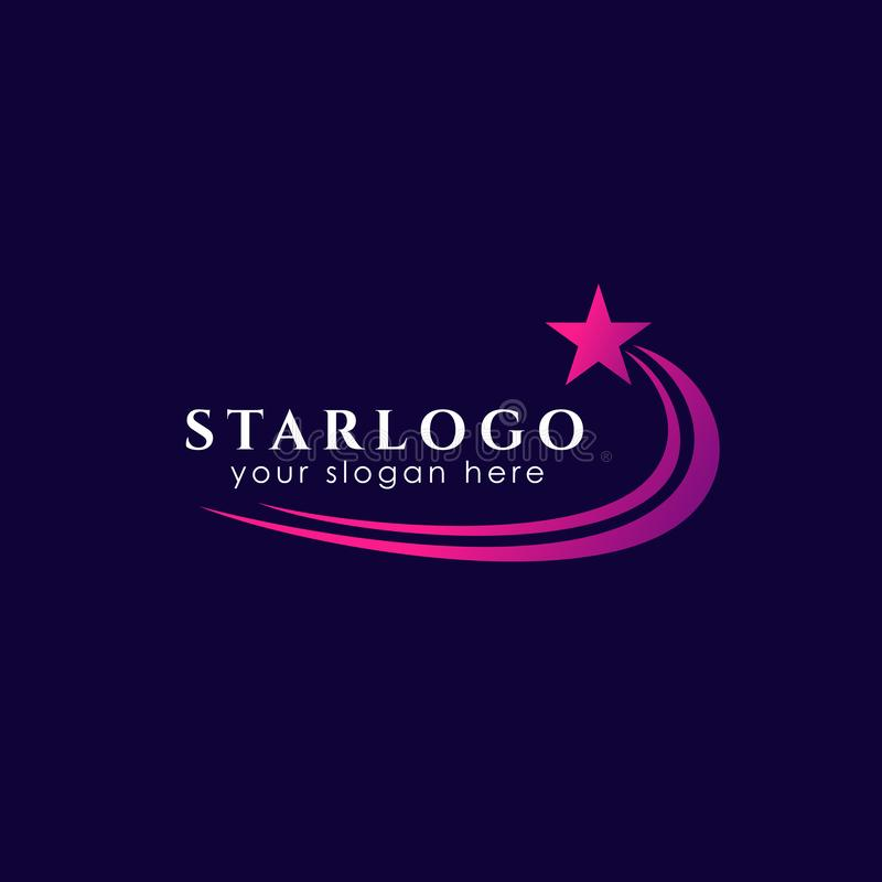 plantilla de la acción del diseño del logotipo de la estrella que vuela Icono del vector de la estrella ilustración del vector