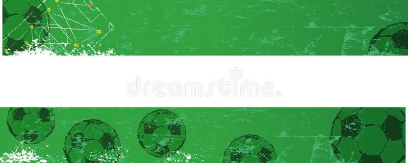 Plantilla de la bandera del fútbol/del fútbol libre illustration