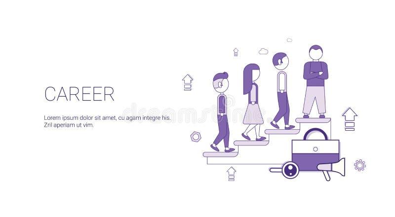 Plantilla de la bandera del web del éxito del desarrollo de negocios de la carrera con el espacio de la copia libre illustration