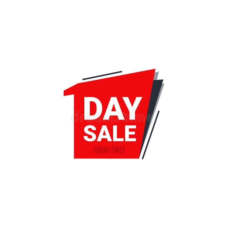 Plantilla de la bandera de la venta día ilustración del vector