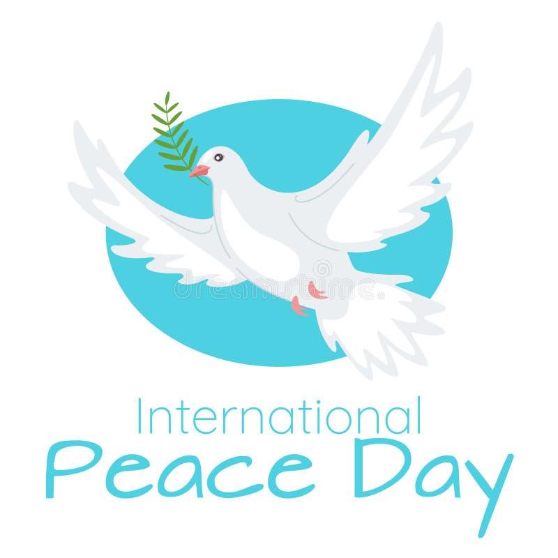 Plantilla de la bandera de la web de la celebración del día de la paz mundial ilustración del vector