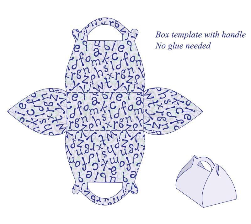 Plantilla de la caja con el modelo del alfabeto libre illustration