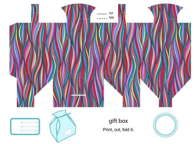 Plantilla de la caja de regalo stock de ilustración