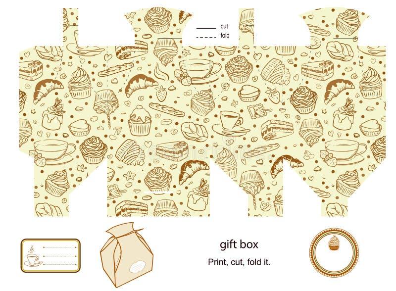 Plantilla de la caja de regalo libre illustration