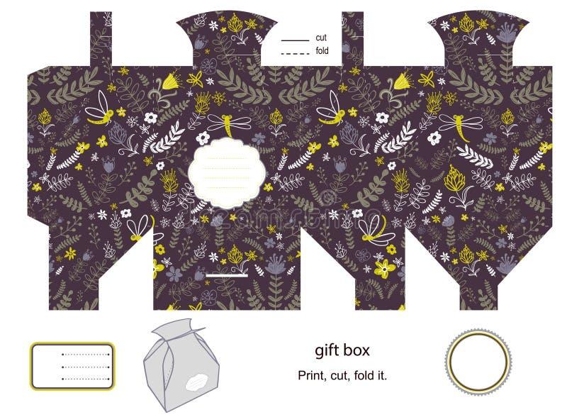 Plantilla de la caja de regalo ilustración del vector