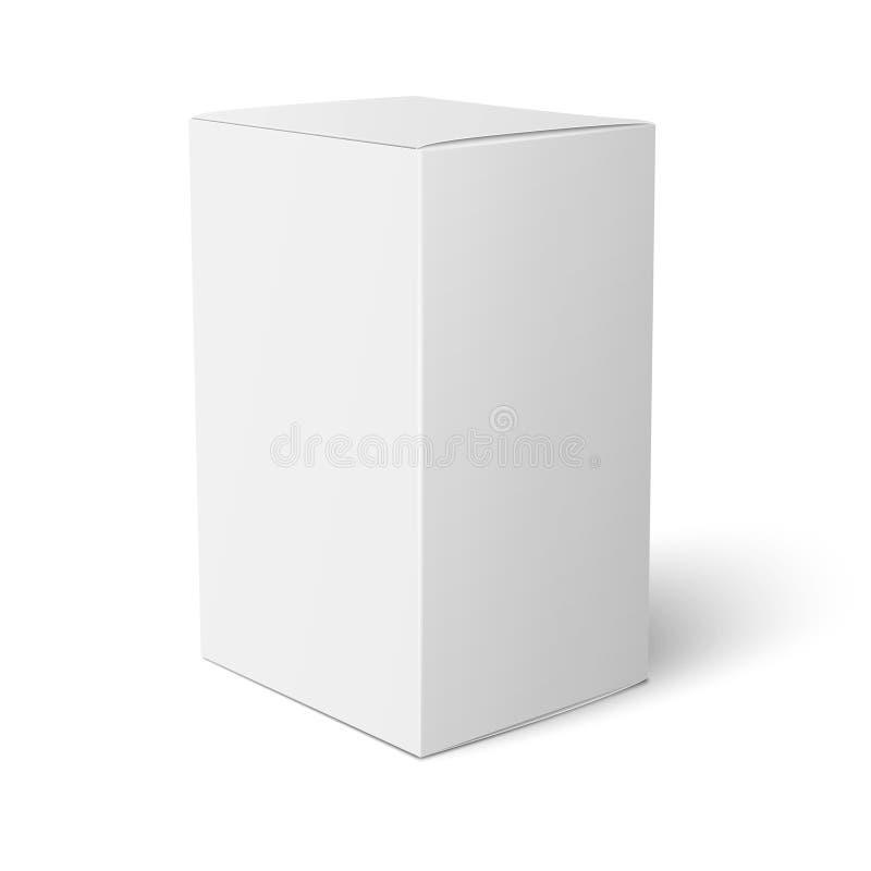Plantilla de la caja del Libro Blanco stock de ilustración