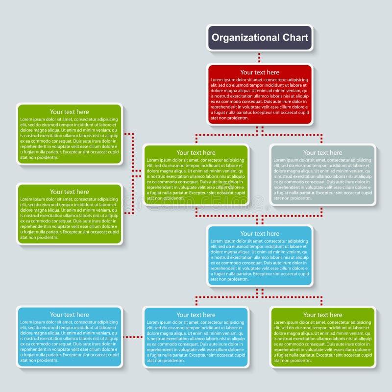 Plantilla de la carta de organización ilustración del vector