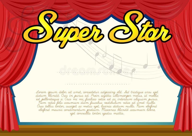 Plantilla de la certificación para la estrella estupenda ilustración del vector