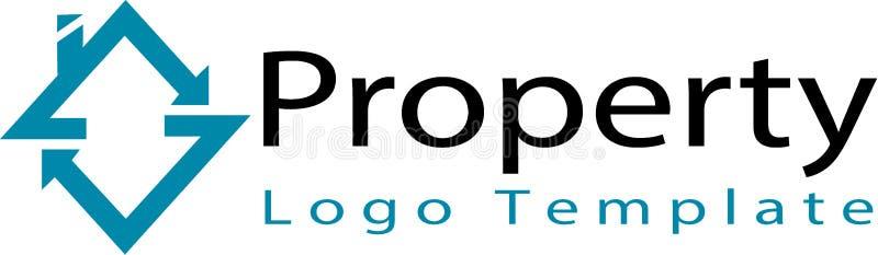 Plantilla de la compañía inmobiliaria y del logotipo ilustración del vector