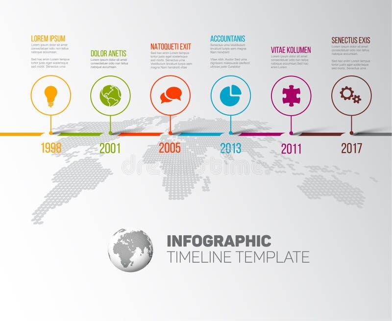 Plantilla de la cronología de los jalones de Vector Infographic Company stock de ilustración