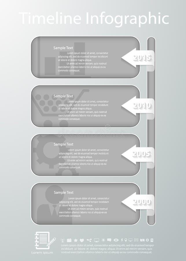 Plantilla De La Cronología Para El Diseño De Negocio, Informes ...