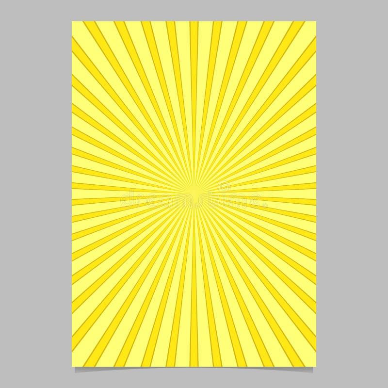 Plantilla de la cubierta abstracta retra del folleto del resplandor solar - vector el fondo del aviador ilustración del vector