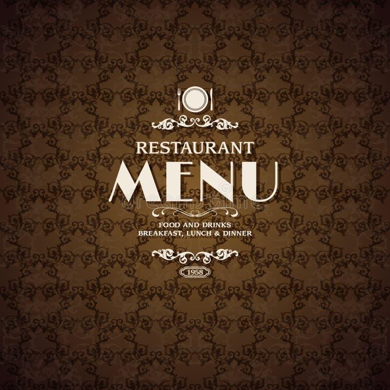 Plantilla de la cubierta del menú del café del restaurante stock de ilustración