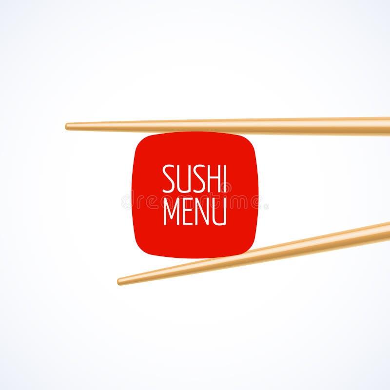 Plantilla de la cubierta del menú del sushi libre illustration