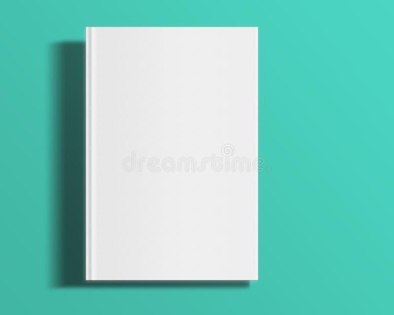 Plantilla de la cubierta en blanco de libro ilustración del vector