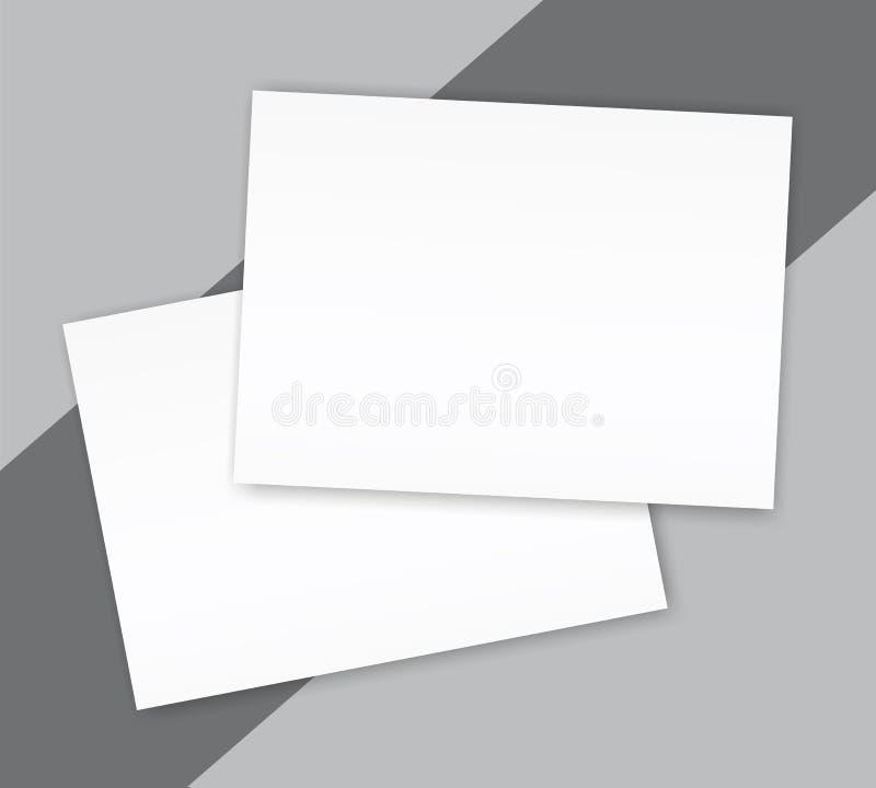 Plantilla de la cubierta en blanco de la maqueta del folleto del paisaje del catálogo stock de ilustración