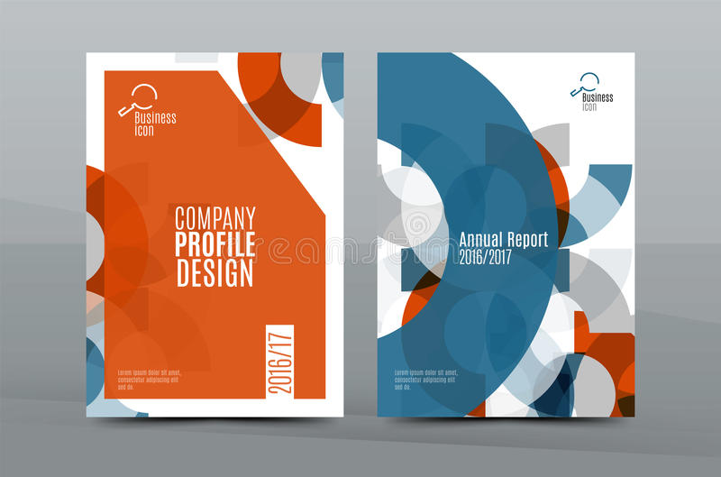 Plantilla de la cubierta fresca colorida del negocio A4 - aviador, folleto, revista del libro e informe anual ilustración del vector
