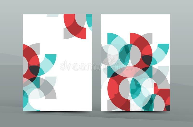 Plantilla de la cubierta fresca colorida del negocio A4 - aviador, folleto, revista del libro e informe anual libre illustration