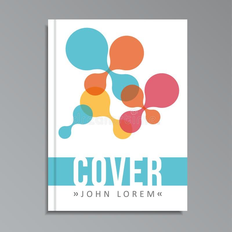Plantilla de la cubierta geométrica moderna para el libro, folleto con los metaballs ilustración del vector
