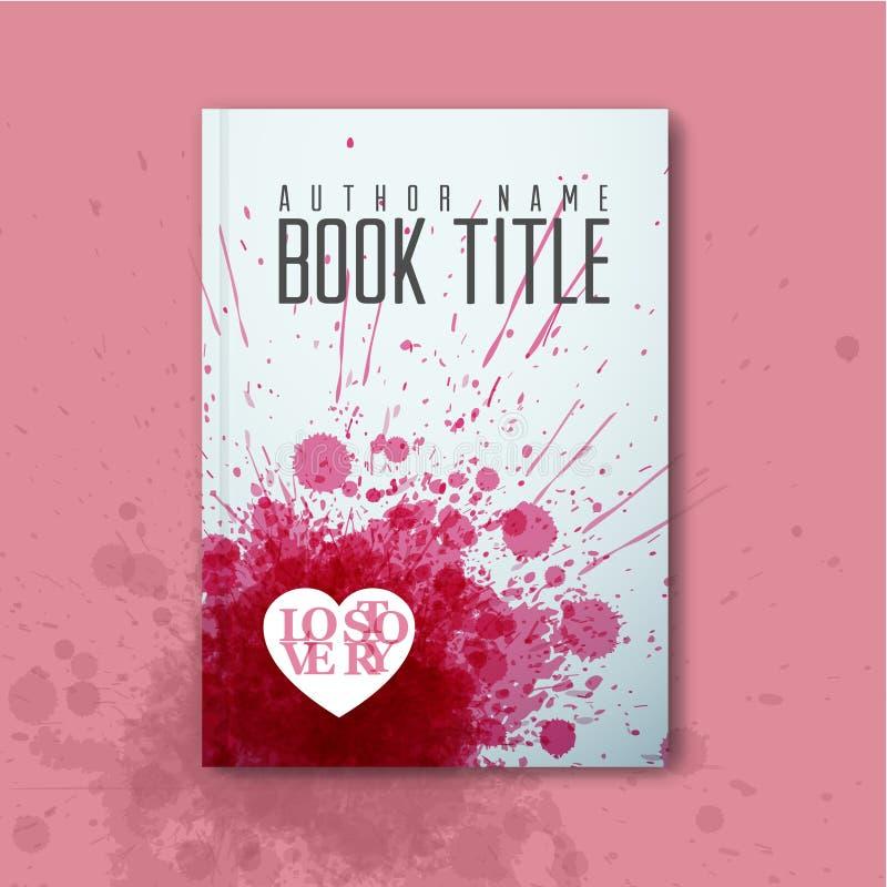 Plantilla de la cubierta moderna de libro del amor del extracto del vector ilustración del vector