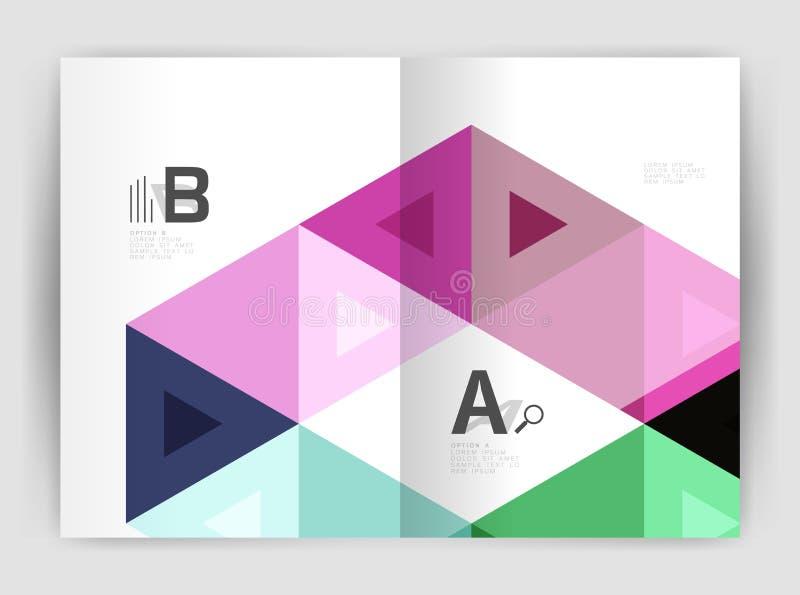 Plantilla de la cubierta moderna del folleto del negocio o de la impresión del prospecto ilustración del vector