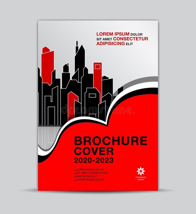 Plantilla de la cubierta multicolora del folleto de las propiedades inmobiliarias, disposición del aviador, cubierta del informe  ilustración del vector